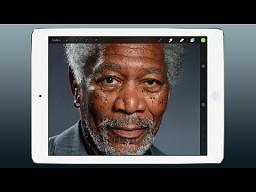 Morgan Freeman jak malowany