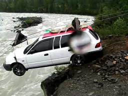 Ekstremalna przeprawa przez rzekę