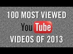 100 najczęściej oglądanych filmików na YouTube w 2013