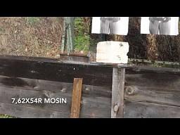 Kałasznikow vs szyna kolejowa