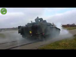 Test hamulców w CV90