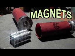 Strzelanie magnesami neodymowymi z shotguna