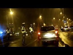 Policyjna blokada dróg w Gdańsku