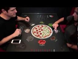 Interaktywny stół w pizzerii