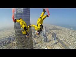 Nowy rekord świata - skok z samego szczytu najwyższego budynku w Dubaju