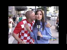 Chorwacki fan brazylijskiej reporterki