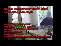 """Napad na Kantor """"Cent"""" w Łodzi"""