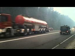 Polska straż pożarna pojechała pomóc sąsiadom
