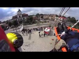 Ewakuacja poszkodowanego z Wieży Kościoła w Bielsku