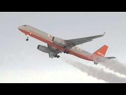 Start Tupolewa 204 przy temperaturze -45 °C