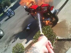 Płonące Ducati