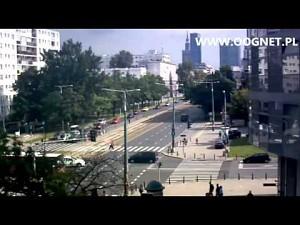 Warszawa - czołowe zderzenie autobusów
