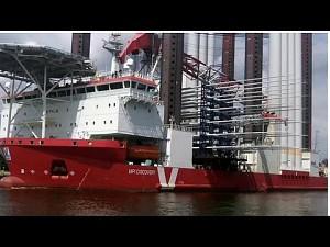 Specjalistyczny statek gigant w gdańskim porcie