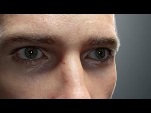 Realistyczna animacja męskiej twarzy