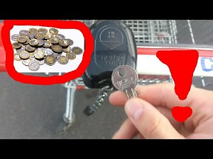 Wózek na zakupy zamykany na klucz