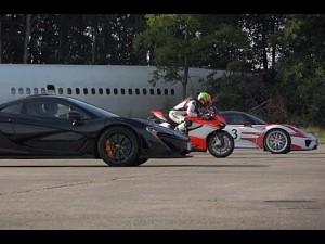 McLaren P1 vs Porsche 918 Spyder vs Ducati 1199