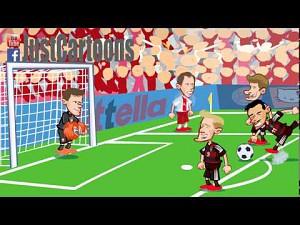 Skrót meczu Polska - Niemcy w wersji animowanej