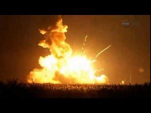 Eksplozja rakiety Antares, która miała dostarczyć zapasy dla ISS