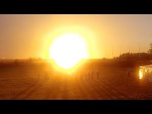 Reakcja reporterów oglądających nieudany start rakiety Antares