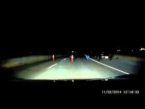 Amatorska blokada na autostradzie
