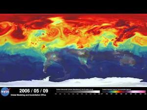 Skupienie CO2 na Ziemi w 2006 roku