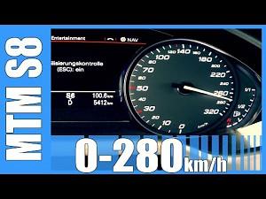 Audi S8 MTM - super przyspieszenie