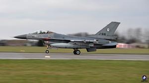Pożegnanie holenderskiego F-16 w 22. BLT w Malborku