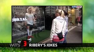 Ribery też potrafi żartować