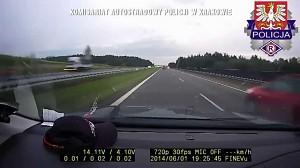"""Kolejny """"mądry"""" na autostradzie A4"""