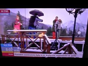 Wpadka na antenie Polsat News