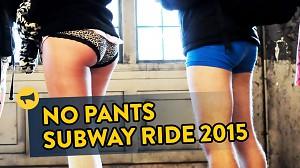 Jazda bez spodni w metrze 2015