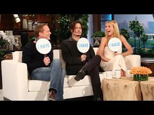 Ellen, Johnny Depp, Gwyneth Paltrow i Paul Bettany pod gradobiciem pytań