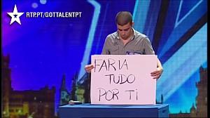 Wiadomość dla byłej dziewczyny w portugalskim Mam Talent