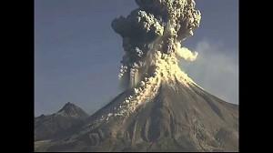 Erupcja wulkanu Colima w Meksyku