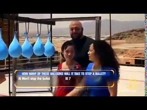Ile balonów z wodą potrzeba do zatrzymania naboju?