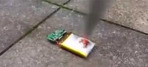 Eksplozja baterii z telefonu