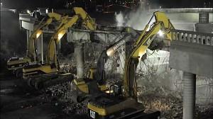 Time Lapse: Wyburzanie wiaduktu