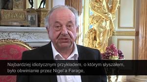 Polski książę wzywa na pojedynek Nigela Farage'a
