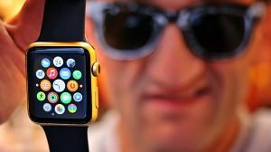 Złoty Apple Watch domowym sposobem