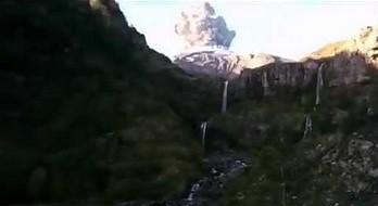 Nagrywał górskie widoczki i dokładnie w tym samym momencie rozpoczęła się erupcja wulkanu