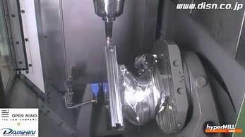 Ameliniowy kask zrobiony na frezarce CNC