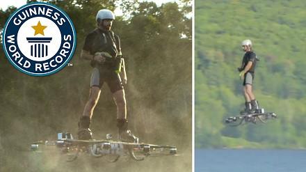 Najdalszy lot z użyciem hoverboard