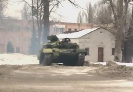 Driftowanie człogiem T-64