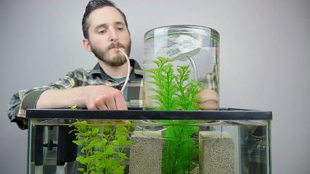 Ciekawy sposób na powiększenie akwarium