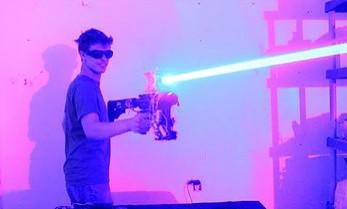 Pistolet laserowy domowej roboty o mocy 40W