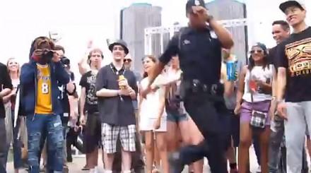 Policjant poszedł w roznosu