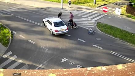Nonszalancja na rowerze z przykrym finałem