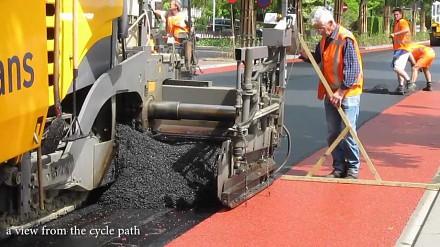 Budowa ścieżki rowerowej w Holandii
