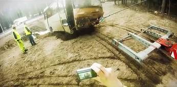 Pomoc drogowa przy wypadku autobusu