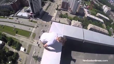 Takie tam wygłupy na 40-piętrowcu